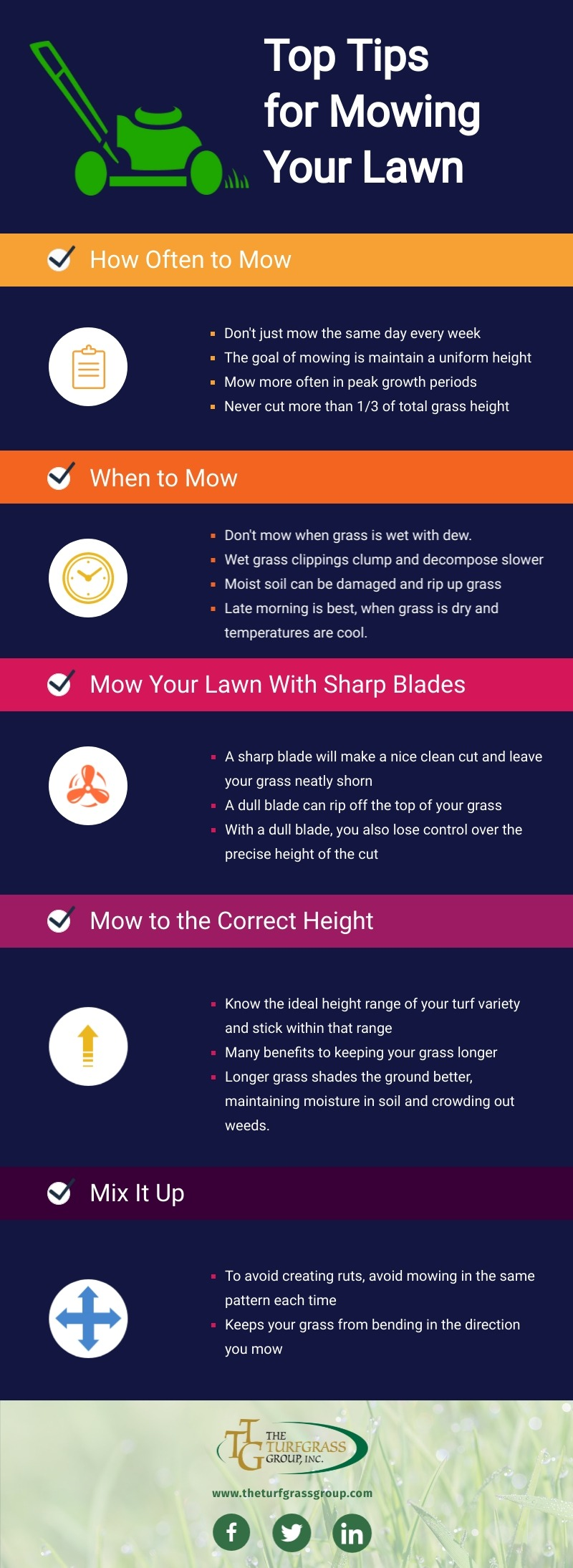 Our Top Tips for Mowing Your Lawn [infographic]